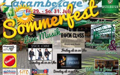 Sommerfest 29.07. bis 31.07.2016